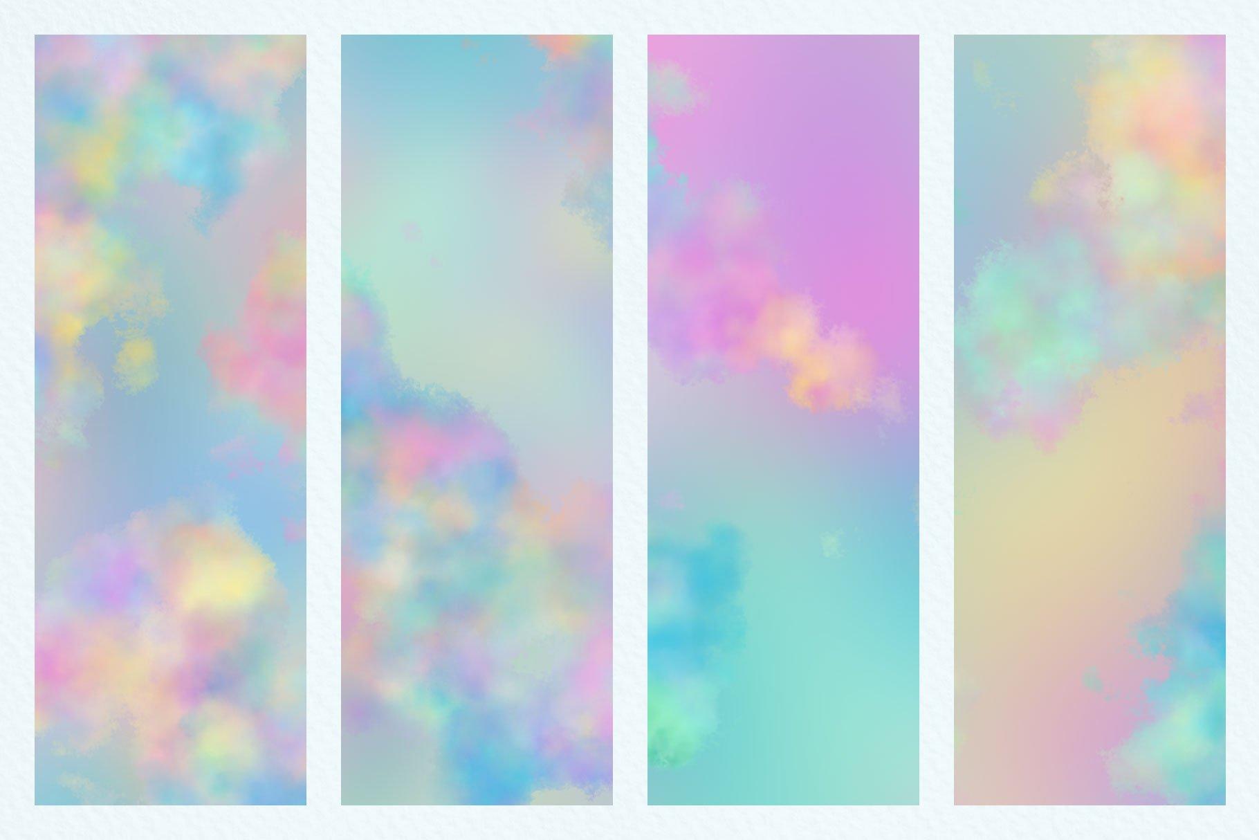 Watercolor cloud backgrounds . Youtube clipart pastel