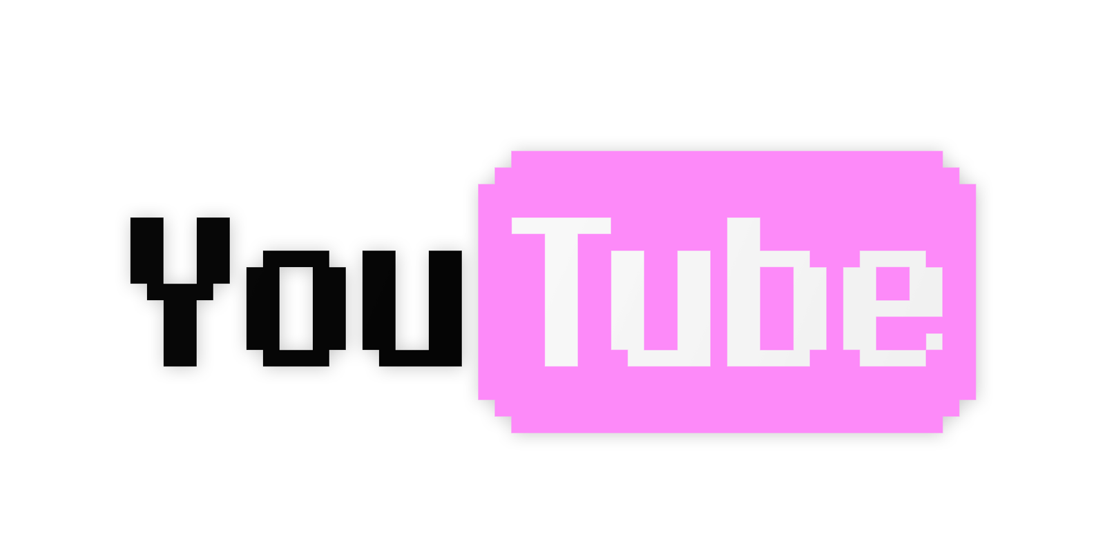 black white sticker. Youtube clipart pink