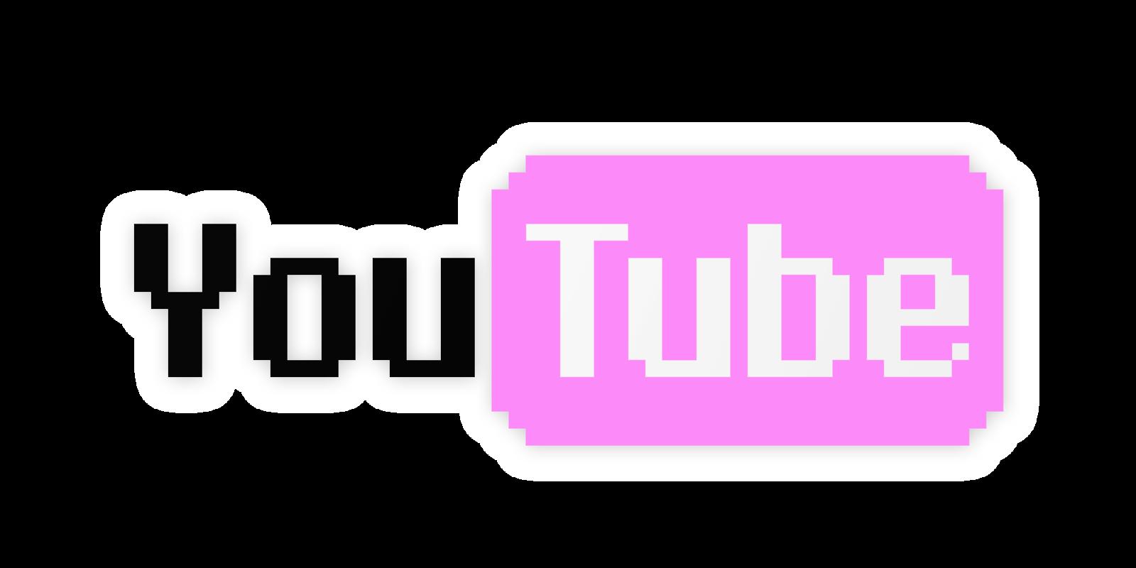 pink black white. Youtube clipart purple