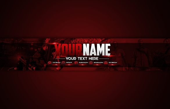 channel art templates. Youtube clipart template