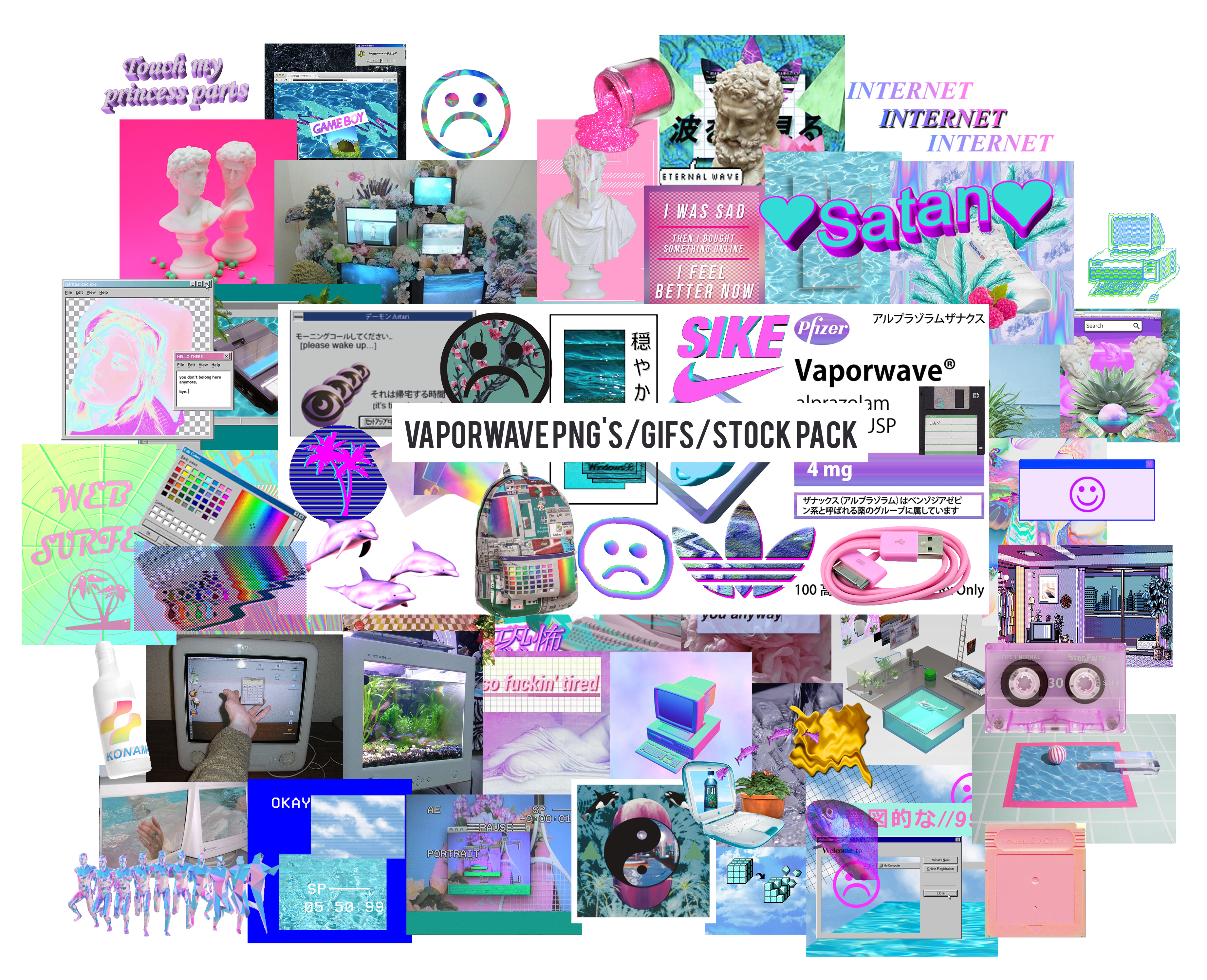 Png s gifs stock. Youtube clipart vaporwave