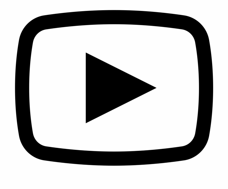 Youtube clipart white. Free logo transparent download