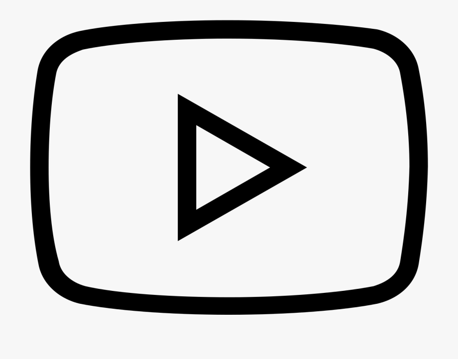 Black transparent logo outline. Youtube clipart white