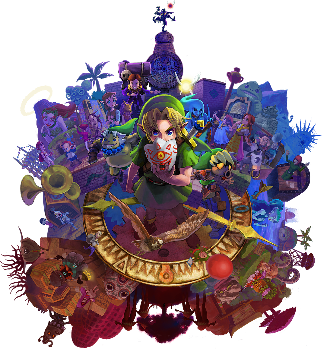 The legend of majora. Youtube clipart zelda