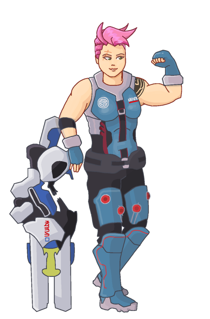 By hageicons on deviantart. Zarya overwatch png