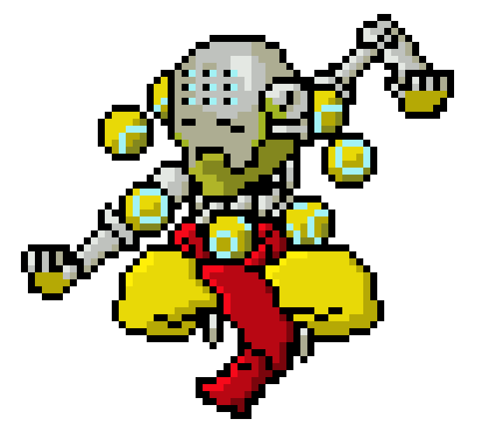 Zenyatta overwatch png. Pixel art maker