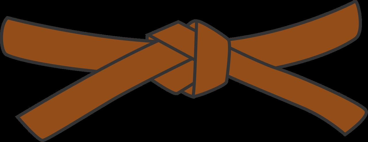 Belt clipart brown belt. Judo beltsvg