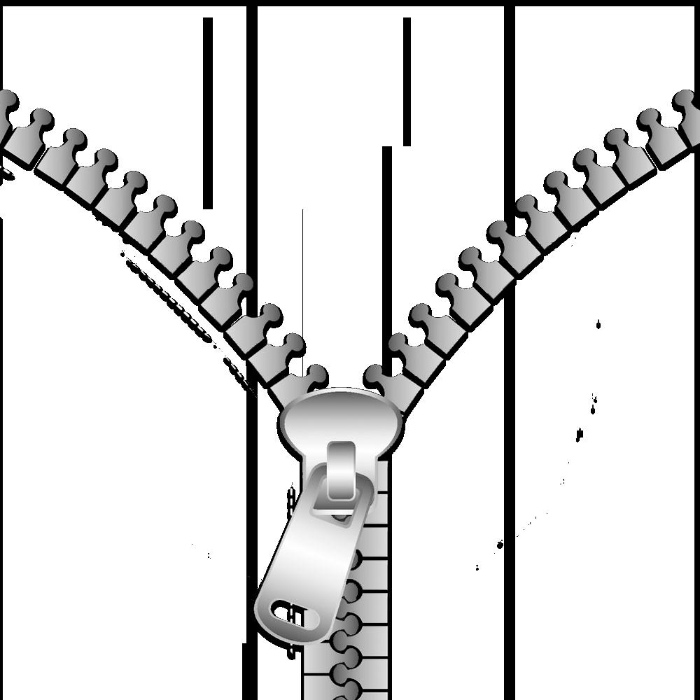 Clip art half of. Zipper clipart chain