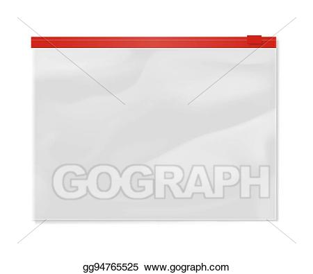 Vector stock plastic bag. Zipper clipart file