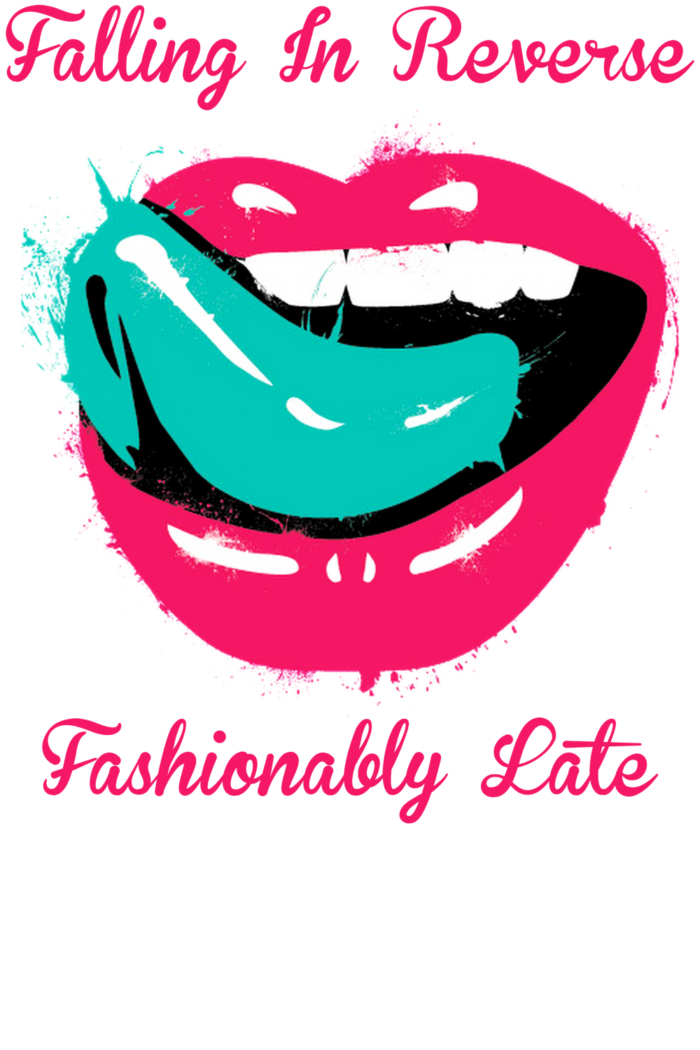 Custom falling in reverse. Zipper clipart lips