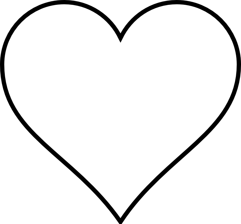 Zipper clipart outline. Black and white heart