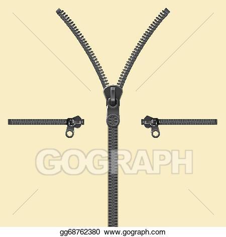 Zipper clipart realistic. Clip art vector template