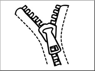 Zipper clipart z word. Clip art basic words