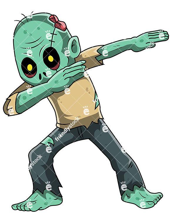 Dabbing vector cartoon pinterest. Zombie clipart