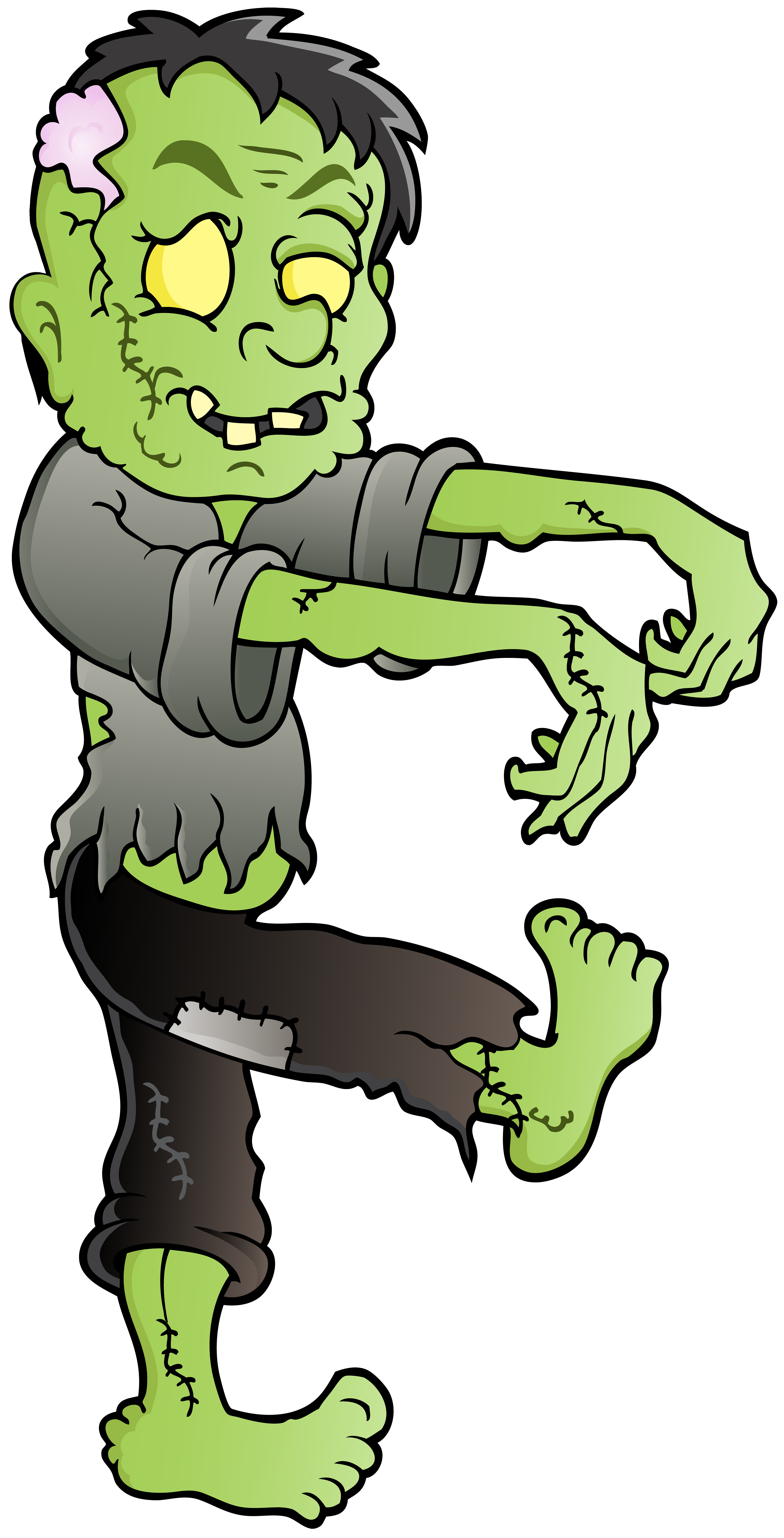 Png clip art image. Foot clipart zombie