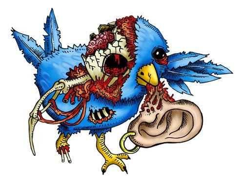 Zombie clipart bird. Birds art creative logo