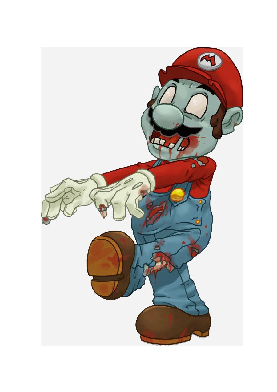 Zombie clipart call duty. Super mario bros of
