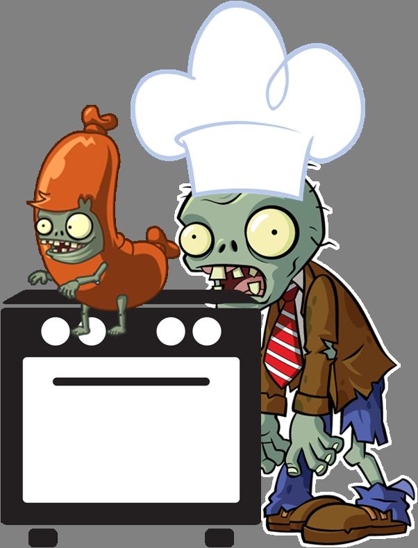 Zombie clipart chef. Image png plants vs