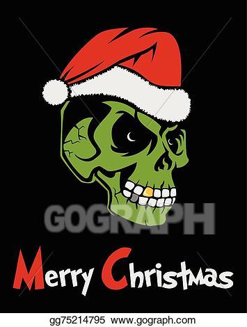 Zombie clipart christmas. Eps illustration santa claus