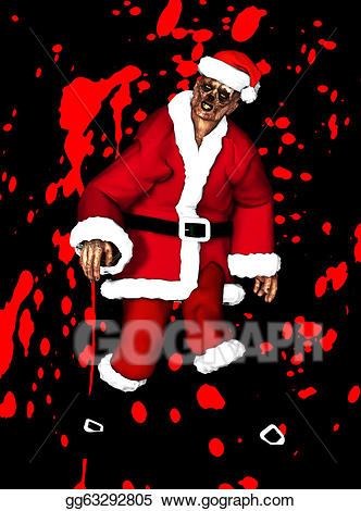 Father stock illustration . Zombie clipart christmas