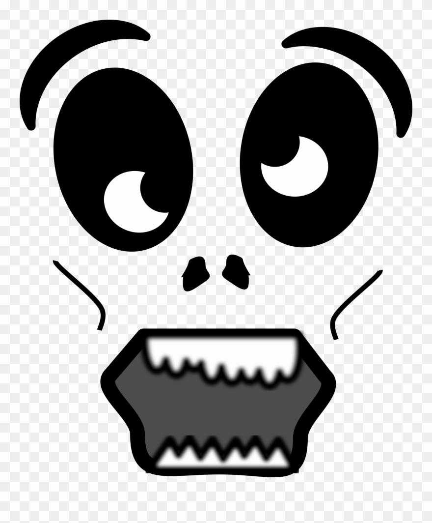 Zombie clipart eyes. Cartoon face scary clip