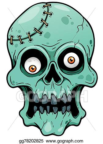 Eps vector stock illustration. Zombie clipart face