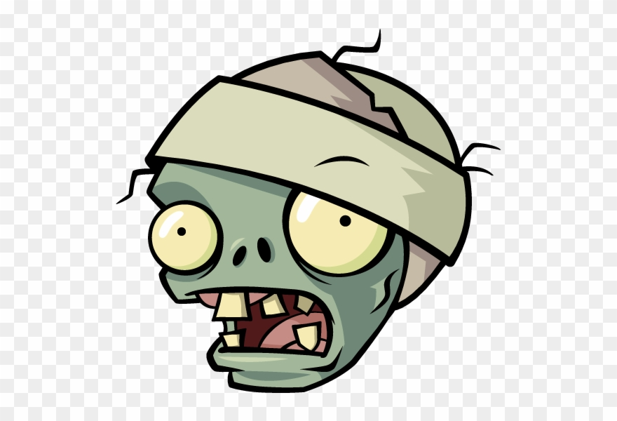 Zombie clipart face. Pvz zombiemummy x plants