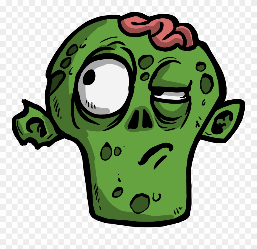 The thinking cartoon png. Zombie clipart face