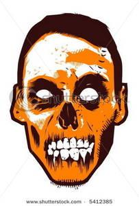 Zombie clipart face. Clip art image the