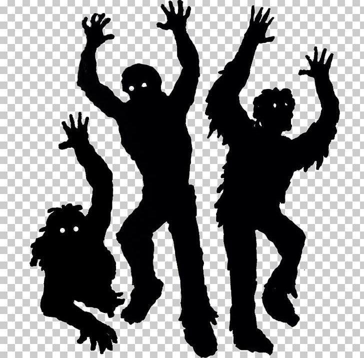 Silhouette png art black. Zombie clipart ghoul
