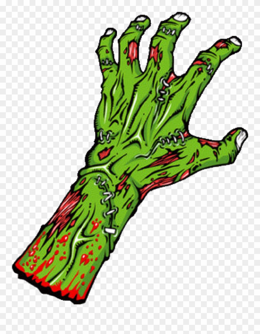 Black and white transparent. Zombie clipart green hand