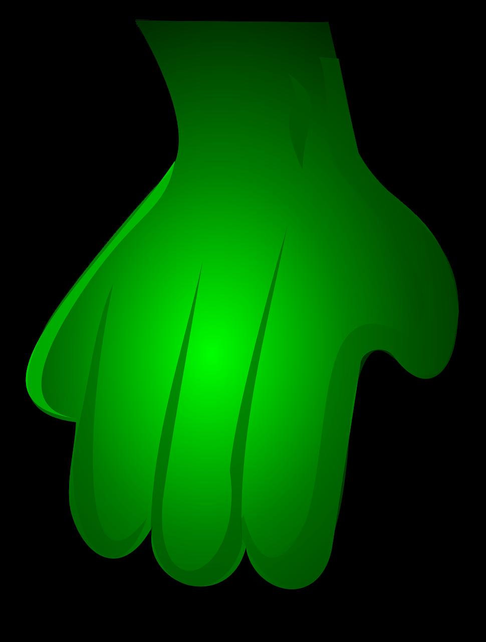 Monster transparent image pinterest. Zombie clipart green hand