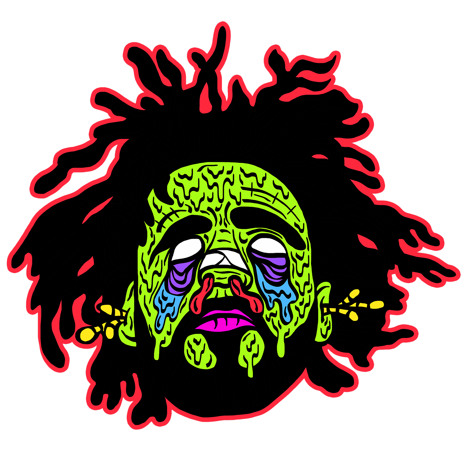 J cole a print. Zombie clipart green hand