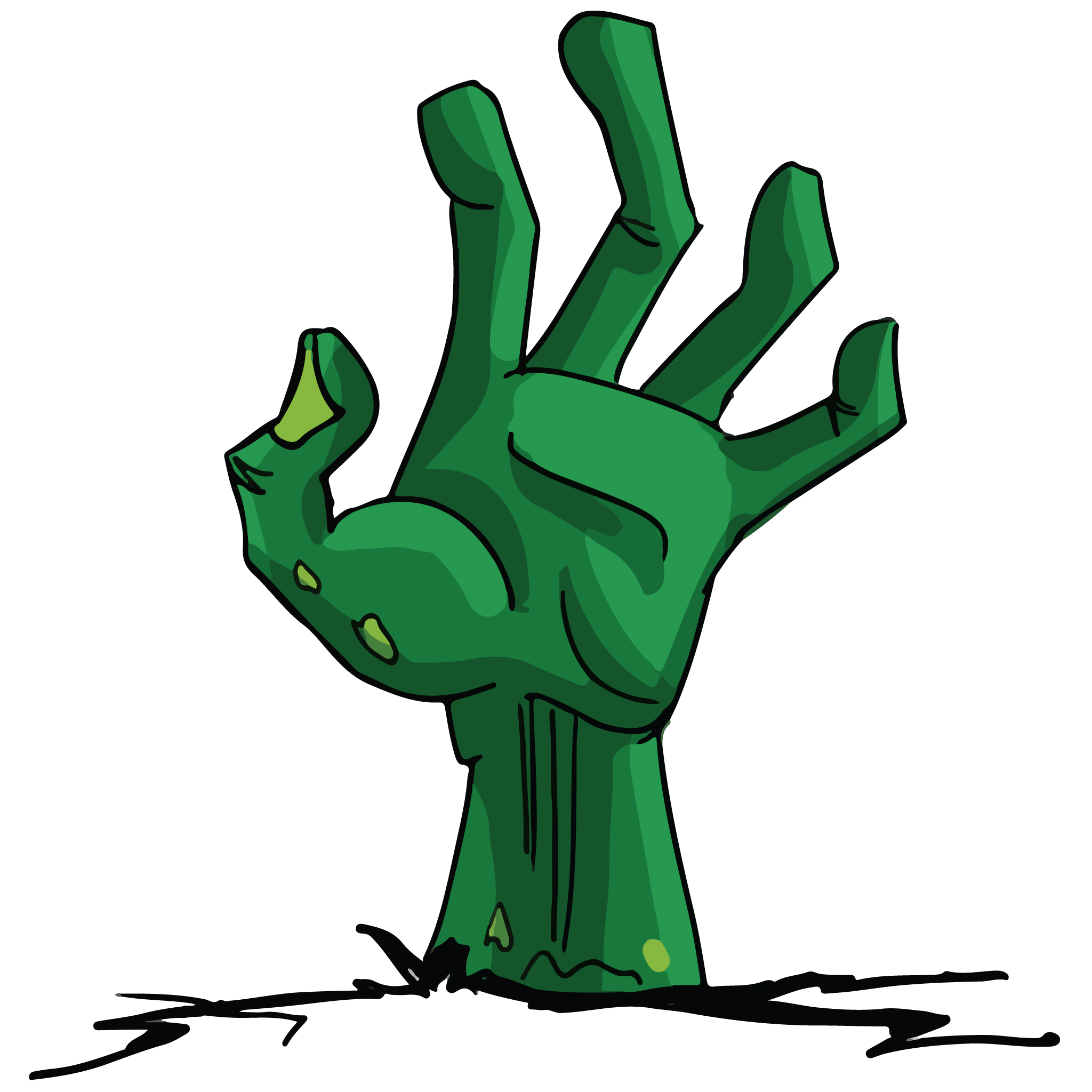 Zombie clipart green hand. Buy comic artwork for
