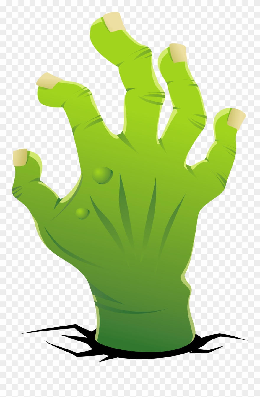 Zombie clipart green hand. Png download