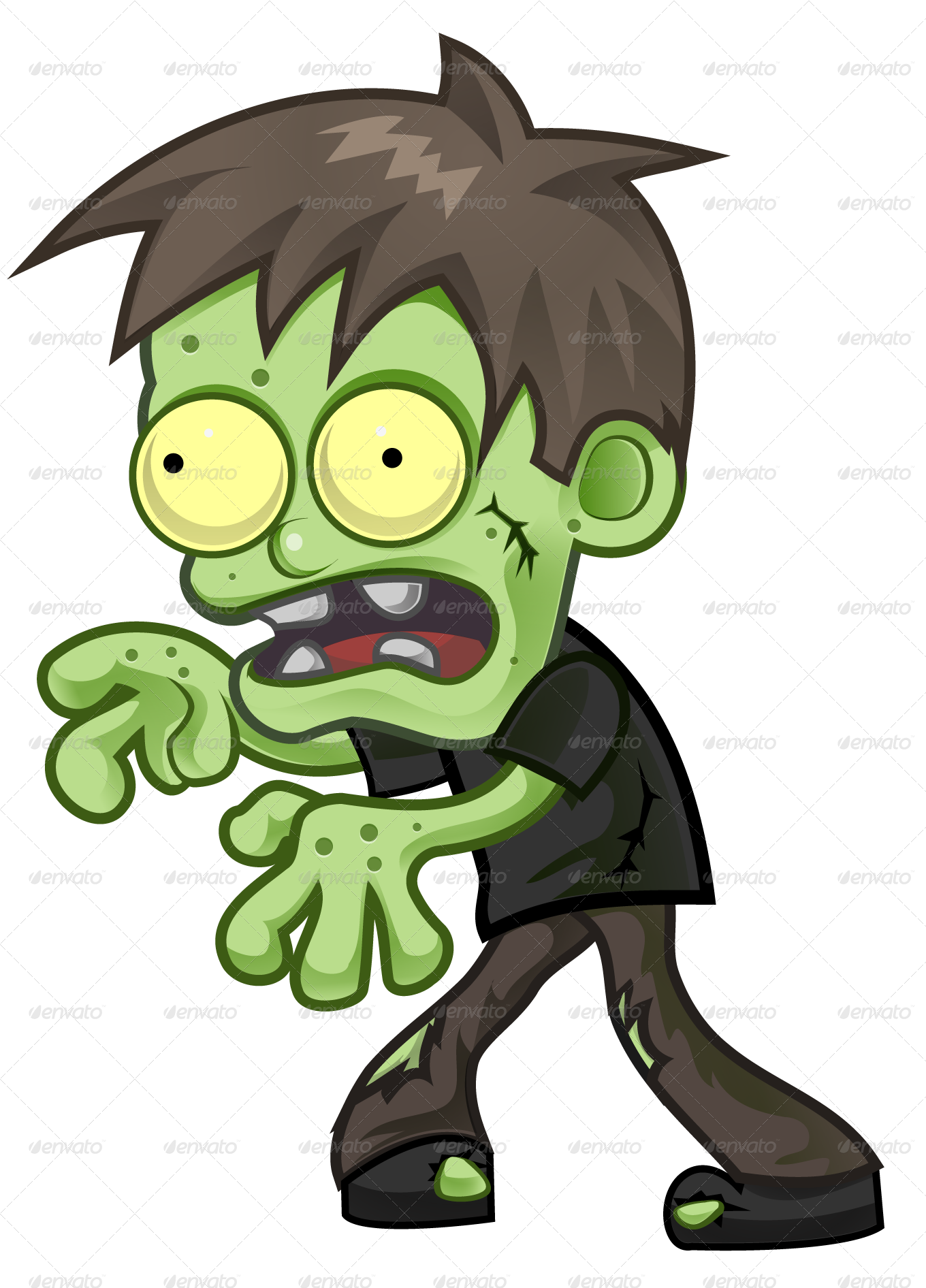 Zombie clipart green hand. Cartoon by pasilan graphicriver