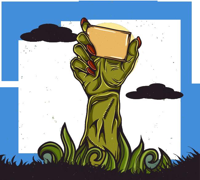 Plants vs zombies transprent. Zombie clipart green hand