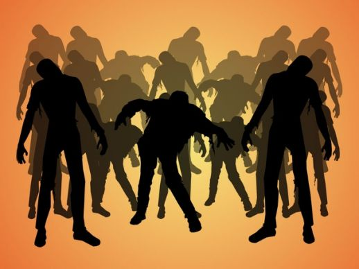 Halloween clip art library. Zombie clipart group zombie