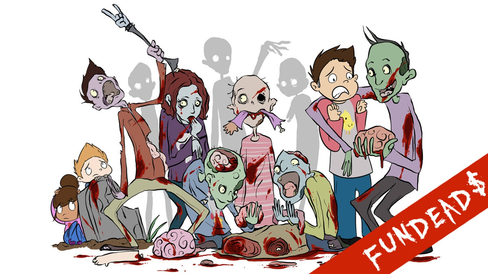 Zombie clipart group zombie. The a b zeees