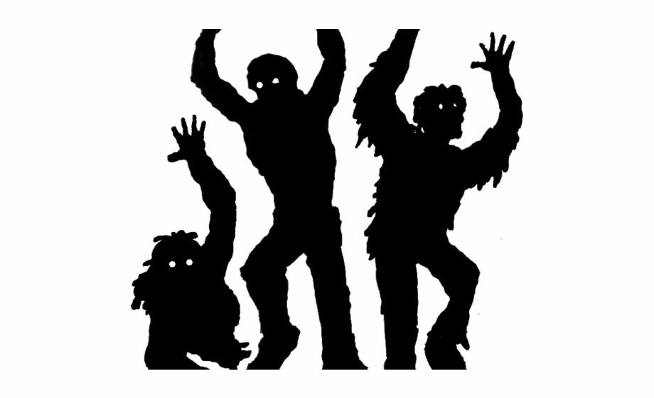 Transparent background clip art. Zombie clipart group zombie