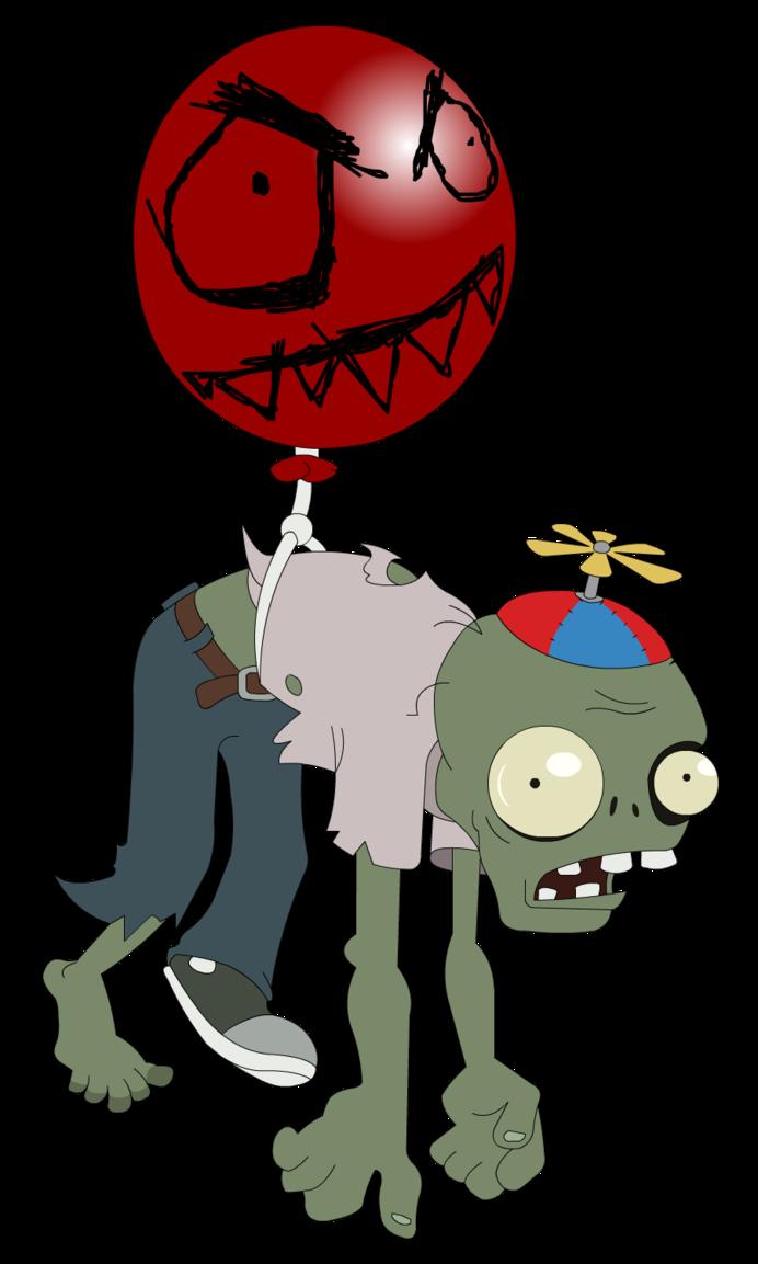Plants vs zombies balloon. Zombie clipart group zombie