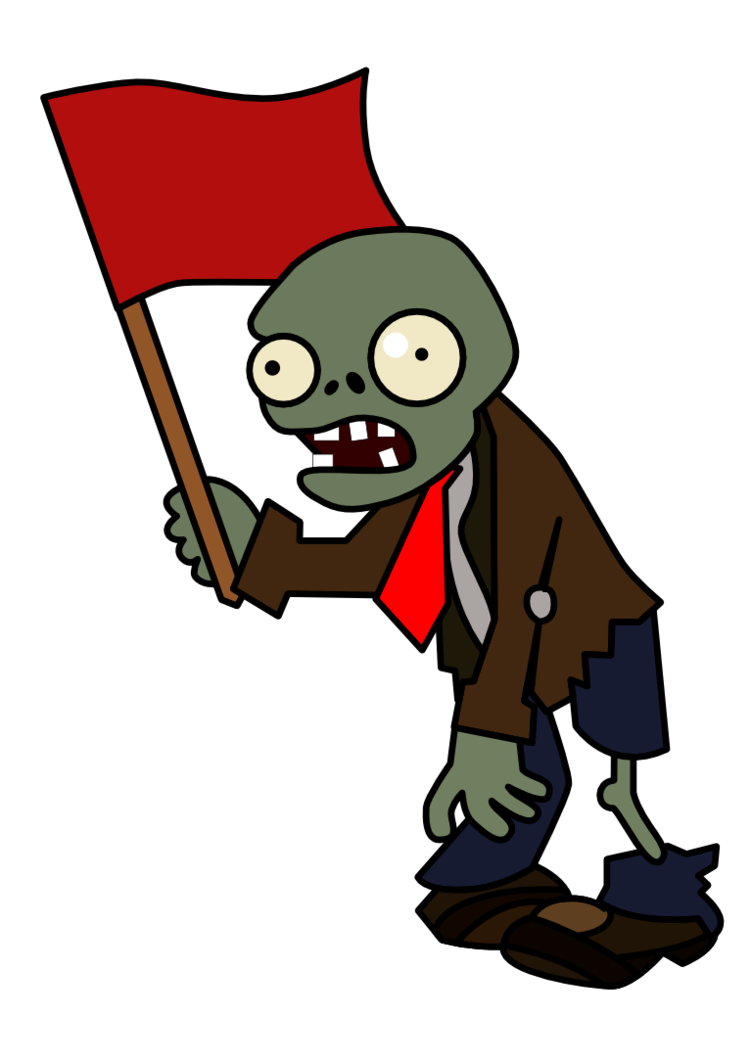 Zombie clipart group zombie. Flag by epicpoodle on