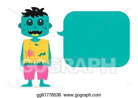 Zombie clipart group zombie. Vector stock illustration gg