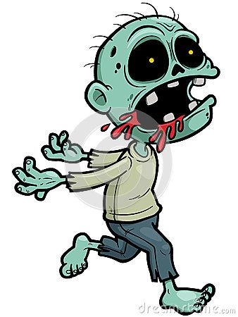 Cartoon awesome comic stuff. Zombie clipart halloween person