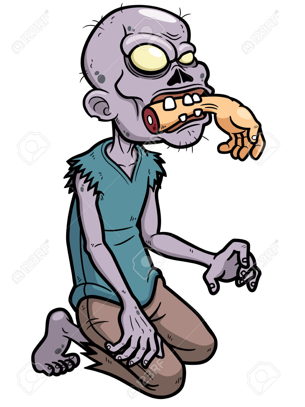 Zombie clipart halloween person. Cartoon free download best