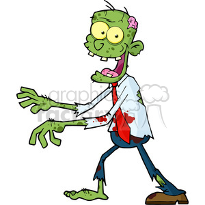 Zombie clipart kid friendly.  cartoon walking with