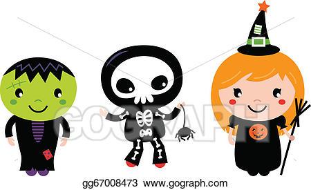 Zombie clipart november. Eps illustration cute halloween