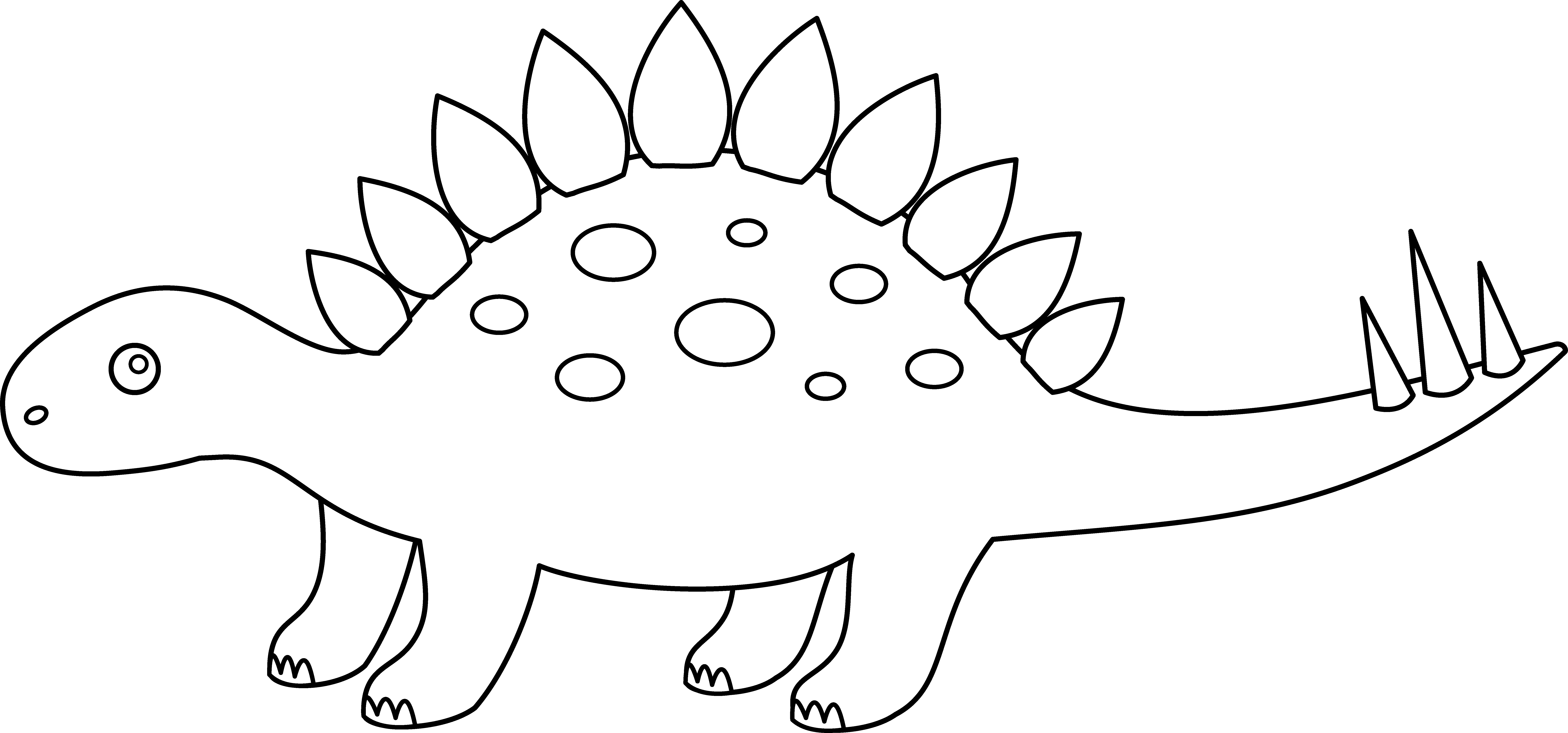 Dinosaur template free collection. Zombie clipart outline