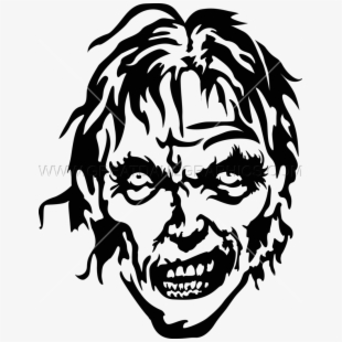 Image freeuse library head. Zombie clipart outline