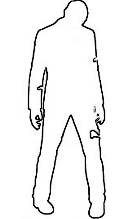 Zombie clipart outline. Drawing free download best